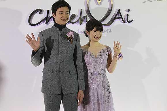 日本球手福原爱中华台北乒乓球运动员江宏杰在台举办婚礼