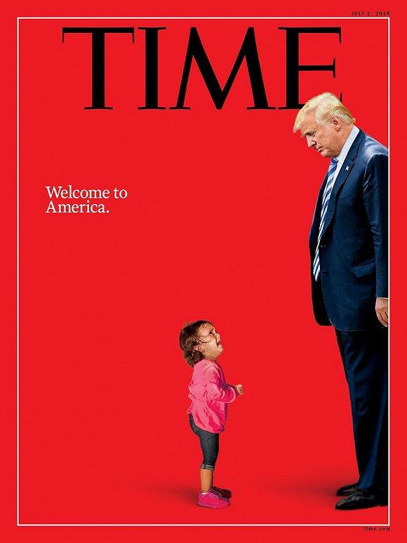 """《時代》封面小女孩未與母分離 特朗普斥責""""假新聞"""""""
