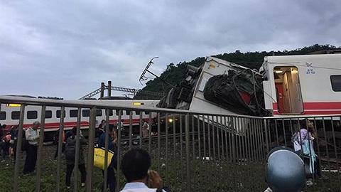 臺當局公布臺鐵出軌事故原因:初判因轉彎時超速