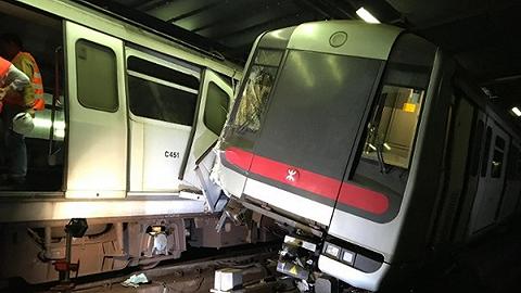 喷鼻港地铁测试新旌旗灯号体系时代,产生两车相撞