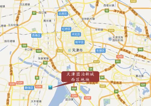 在天津文化中心与地铁6号线交汇,同时团泊新城内还分布有双语幼儿园
