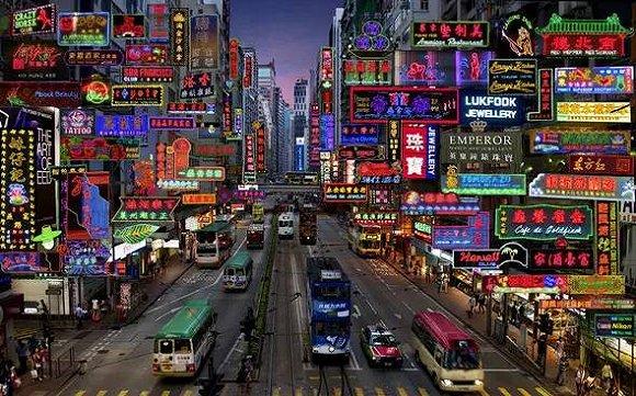 旧香港街区风景图片