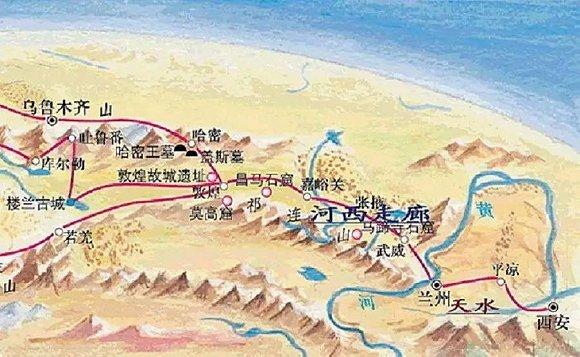 宁夏在唐朝时地图