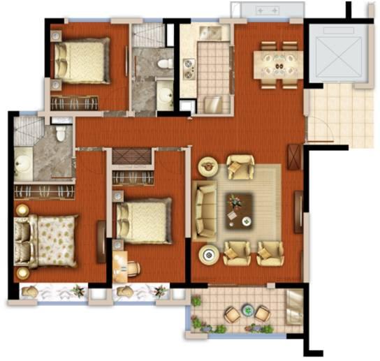 120套房平米设计图纸