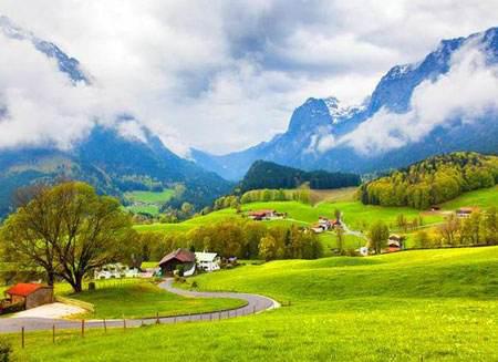 世界山间风景图片