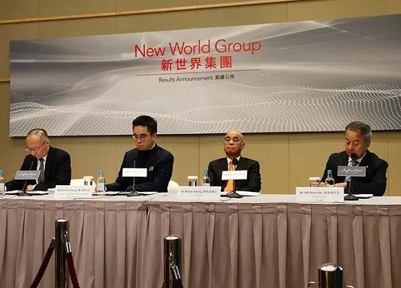 新世界发展收入涨七成,但内地业绩仍显疲软