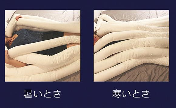 天气冷时可以将面条拼在一起,天热时则可以将面条摊开散热。
