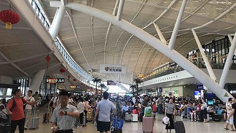 """台风""""利奇马""""来袭,旅客出行受影响"""