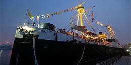 """清代北洋海军旗舰""""定远舰""""沉舰遗址在威海发现,已出水一批遗物"""
