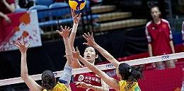 中国女排逆转3-2险胜巴西,世界杯豪取六连胜