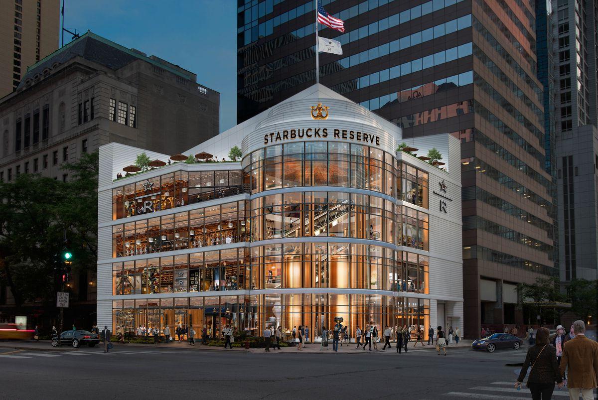 星巴克全球最大门店在芝加哥开业,也是配置最高的甄选烘焙工坊图3