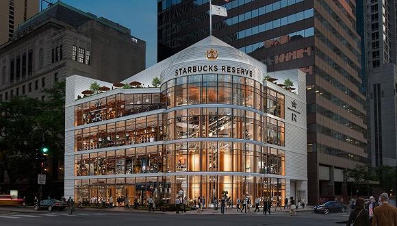 星巴克全球最大门店在芝加哥开业,也是配置最高的甄选烘焙工坊图1