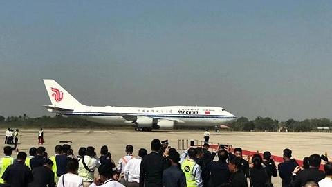 國家主席習近平抵達內比都 開始對緬甸聯邦共和國進行國事訪問