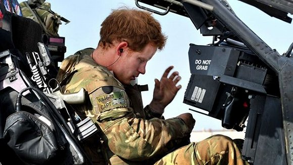 Prince Harry in Afghanistan in October 2012