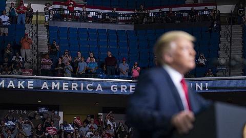 """特朗普集会冷清的原因找到了:被TikTok用户和""""韩粉""""放鸽子"""