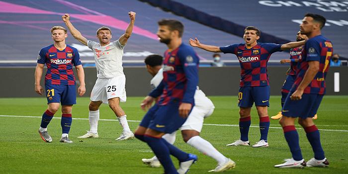 """巴萨2-8惨败于拜仁,被""""史诗级""""羞辱后梅西考虑离队"""