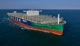 工业之美丨体长超航母、船高22层楼,全球最大LNG集装箱船启航