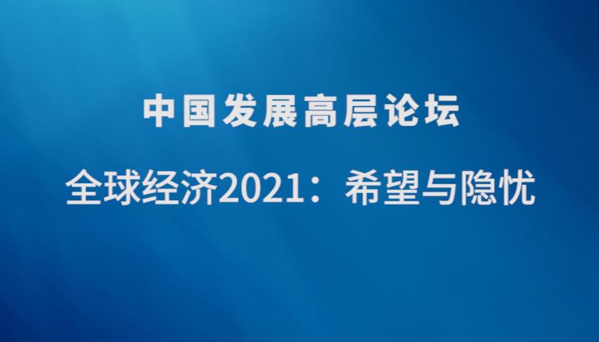 中国发展高层论坛2021丨杨伟民、王一鸣谈全球经济