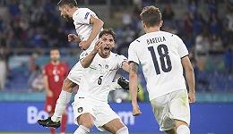 欧洲杯首度以乌龙球开局,意大利三球大胜土耳其