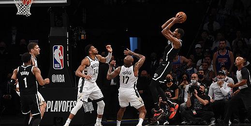 """杜兰特""""抢七""""进绝平球爆砍48分,NBA篮网加时不敌雄鹿"""
