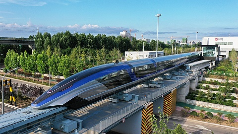 我国时速600公里磁浮交通系统下线,已具备线路试验条件