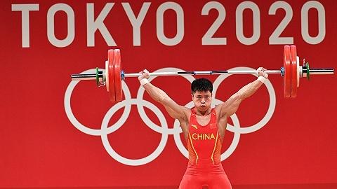 中国军团   李发彬顺利夺冠,中国举重队再破奥运纪录