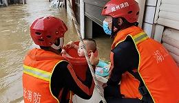 湖北随州襄阳等地暴雨致多人被困,当地出动173名消防员展开救援