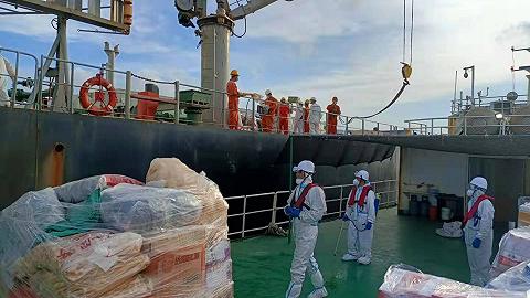 福建海事局:賀維輪無法靠泊因倉庫滿容,伙食問題已解決