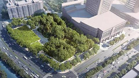 宁波市望京门遗址公园工程开始桩基施工