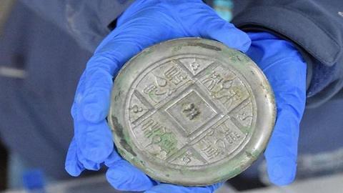 陕西考古新发现:2000多年西汉铜镜仍光可鉴人